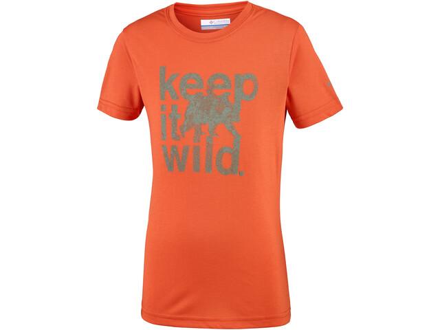 Columbia Mini Ridge T-shirt Garçon, tangy orange